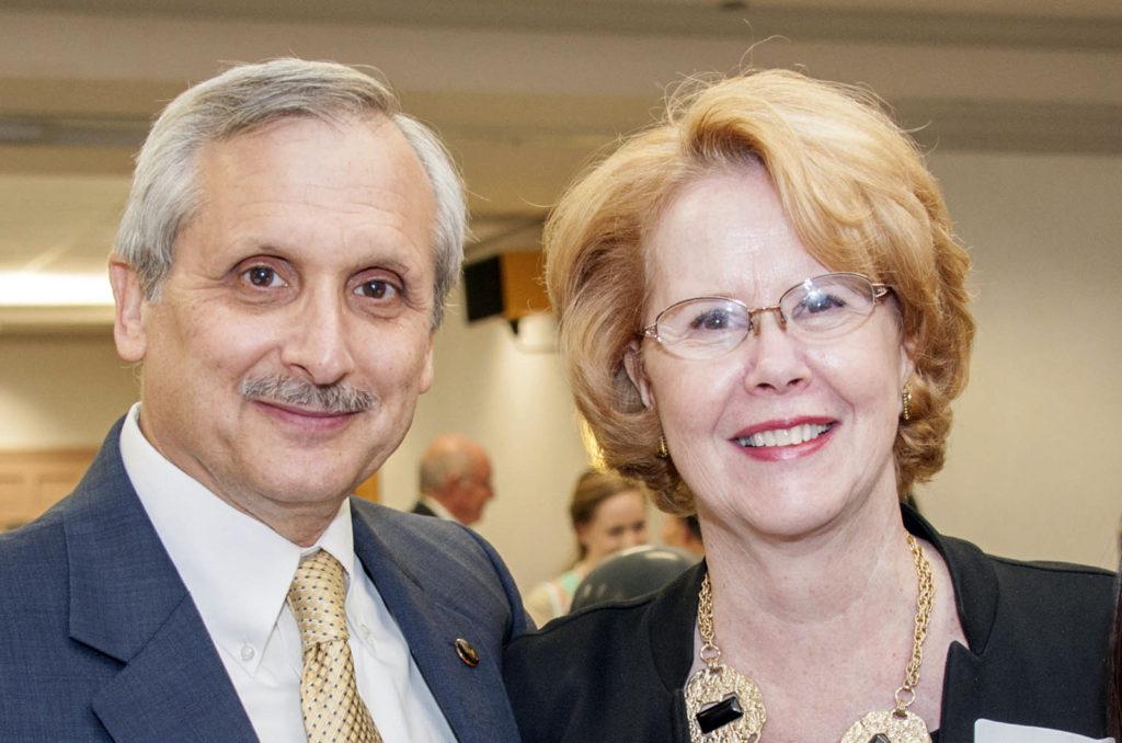 CSM President Dr. Bradley Gottfried, left, and Linda Gottfried
