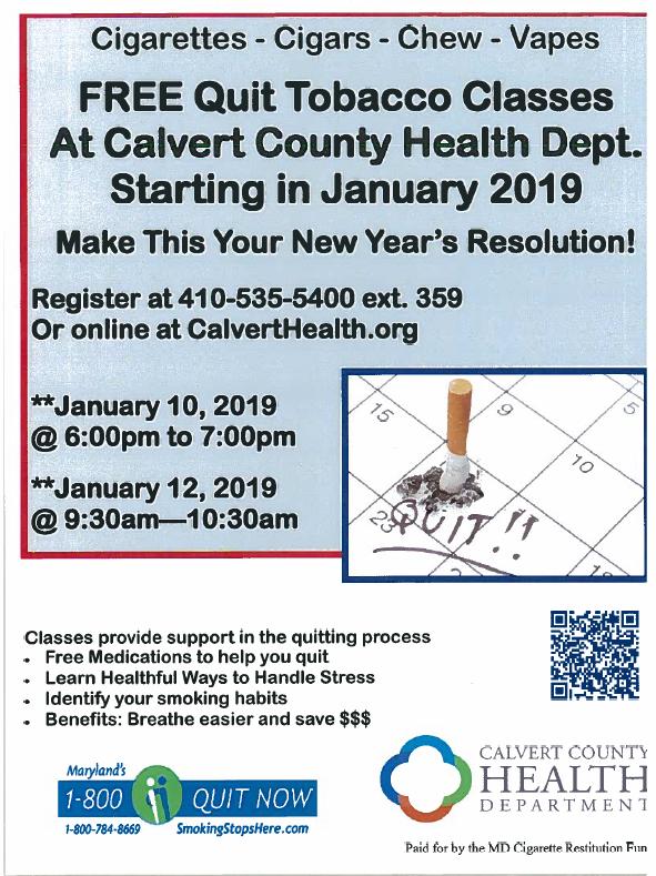 Tobacco Cessation Program – Calvert County NAACP