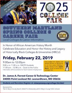 The St. Mary's County Branch, NAACP in Partnership with St. Mary's County Public Schools