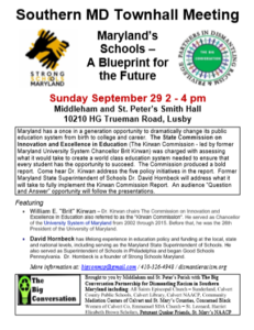 Maryland's Schools – A Blueprint for the Future On Sept 29,2019