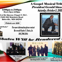 Gospel Musical Tribute to Gerald Stansbury