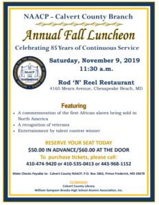 NAACP Annual Fall Luncheon