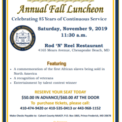 NAACP Annual Fall Luncheon