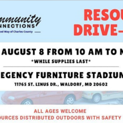 Resource Drive-thru on August 8 from 10 a.m. to 12 p.m.